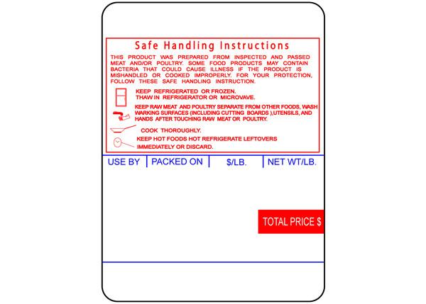 Ishida Safe Handling Instructions Labels 64mm X 85mm Tigerbyte