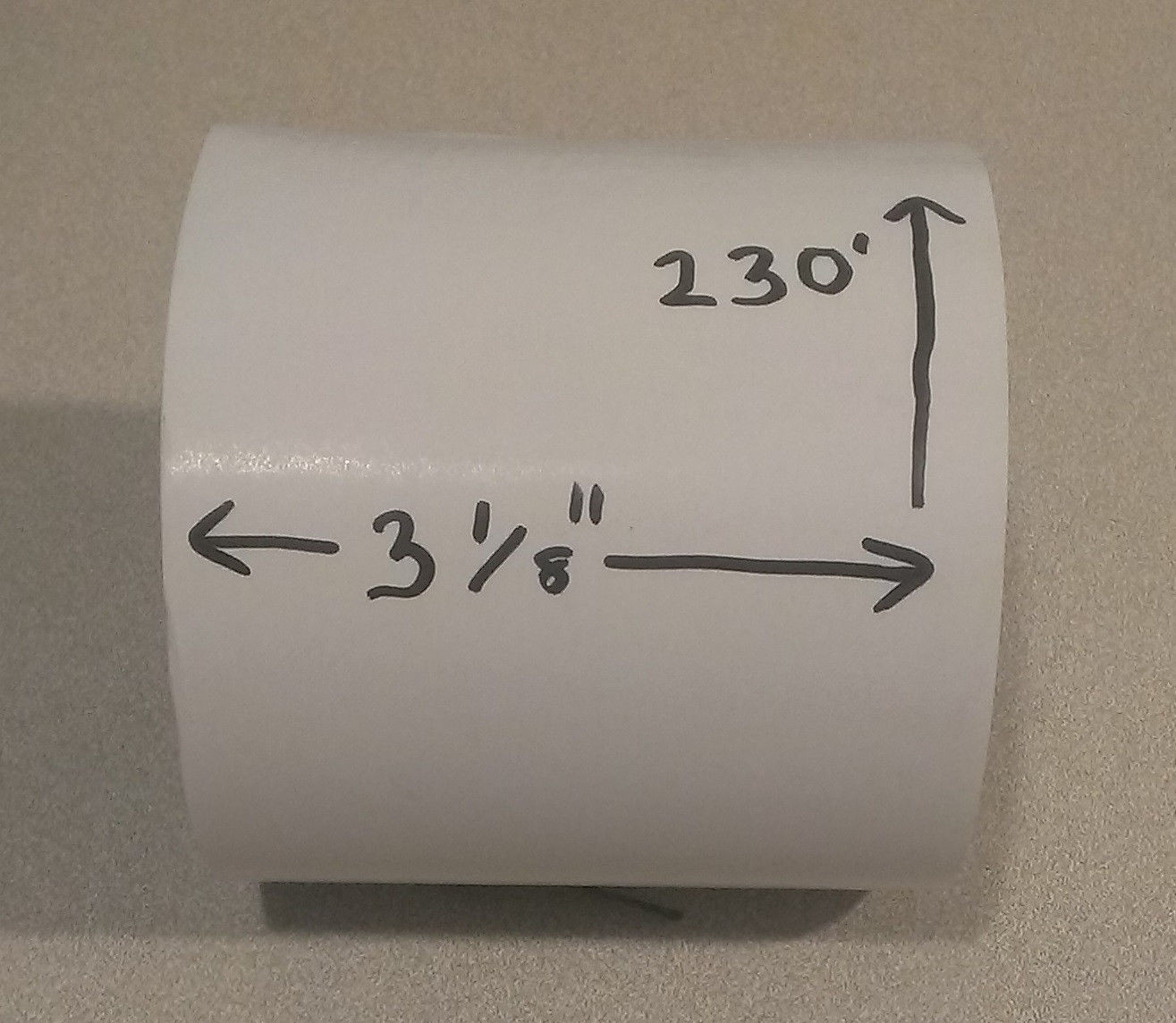 Thermal Pos Receipt Paper Rolls 3 1 8 Quot X 220 For Thermal